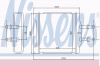 NISSENS 76502 Теплообменник, отопление салона