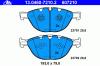 ATE 13.0460-7210.2 Комплект тормозных колодок, диско