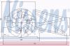 NISSENS 85017 Вентилятор, конденсатор кондиционера