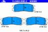 ATE 13.0460-5980.2 Комплект тормозных колодок, диско