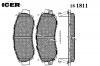 ICER 181811 Комплект тормозных колодок, диско