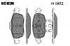 ICER 181852 Комплект тормозных колодок, диско
