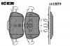 ICER 181859 Комплект тормозных колодок, диско