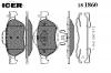 ICER 181860 Комплект тормозных колодок, диско