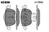 ICER 181866 Комплект тормозных колодок, диско