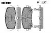 ICER 181937 Комплект тормозных колодок, диско