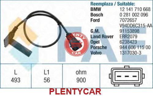 Номер: 79208 Датчик импульсов; Датчик частоты вращения, управление двигателем.  Оригинальные номера производителей.