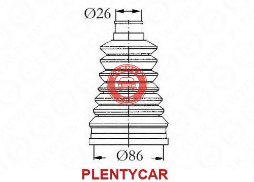 Комплект пылника RENAULT 19 II, приводной вал - SASIC 4003440 ...